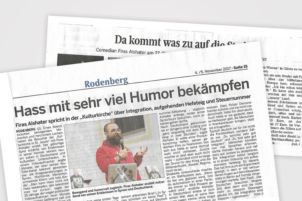 Firas Alshater – Ich komm auf Deutschland zu