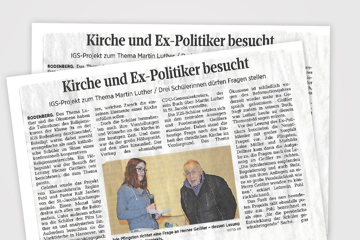 Heiner Geißler - IGS-Projekt zum Thema Martin Luther